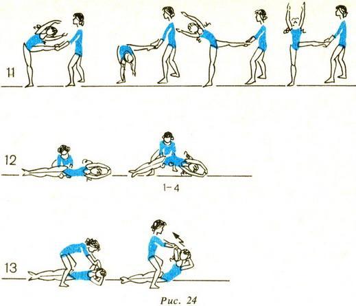 упражнения в парах по физкультуре в картинках
